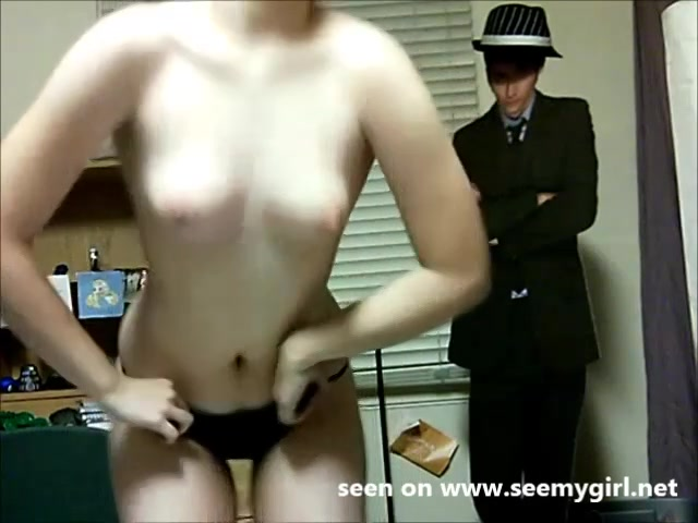 Schattig webcam grietje danst striptease